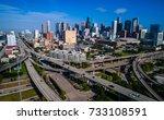 mega city of houston   texas... | Shutterstock . vector #733108591