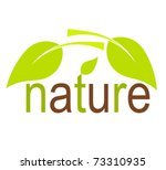 nature concept with green... | Shutterstock .eps vector #73310935