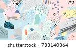 creative art header with... | Shutterstock .eps vector #733140364