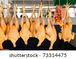 Hanged Chickens Displayed In...