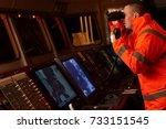 navigation officer   pilot on... | Shutterstock . vector #733151545