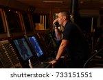 navigation officer   pilot on... | Shutterstock . vector #733151551