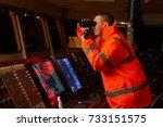 navigation officer   pilot on... | Shutterstock . vector #733151575