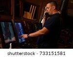 navigation officer   pilot on... | Shutterstock . vector #733151581