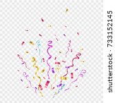 confetti isolated on... | Shutterstock .eps vector #733152145