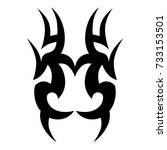 tattoo tribal vector design.... | Shutterstock .eps vector #733153501