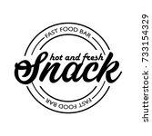 fast food restaurant  cafe... | Shutterstock .eps vector #733154329