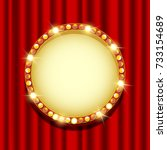 casino banner with gold elements | Shutterstock . vector #733154689