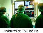 interventional cardiology. male ... | Shutterstock . vector #733155445