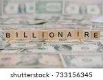"""the word """"billionaire"""" written..."""