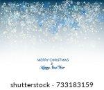christmas snowflakes blue... | Shutterstock .eps vector #733183159