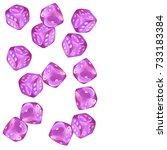 pattern with casino dice.... | Shutterstock .eps vector #733183384