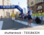marathon in the city theme...   Shutterstock . vector #733186324