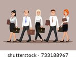 a group of young people in... | Shutterstock .eps vector #733188967