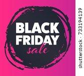 black friday sale banner.... | Shutterstock .eps vector #733194139