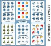 iq test. choose correct answer. ... | Shutterstock .eps vector #733195189