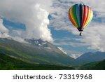 hot air balloon over colorado...   Shutterstock . vector #73319968