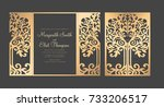 tree wedding invitation... | Shutterstock .eps vector #733206517
