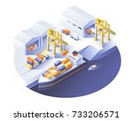 delivery service concept.... | Shutterstock .eps vector #733206571