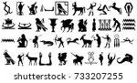 fable silhouette | Shutterstock . vector #733207255