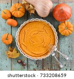 Homemade American Pumpkin Pie...