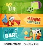fan paraphernalia sport bar... | Shutterstock .eps vector #733219111