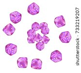 pattern with casino dice.... | Shutterstock .eps vector #733219207