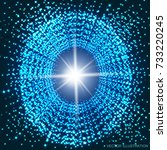 swiftness and infinity.... | Shutterstock .eps vector #733220245
