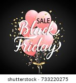 black friday sale banner with... | Shutterstock .eps vector #733220275