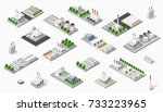 isometric plant in 3d dimensiona | Shutterstock . vector #733223965