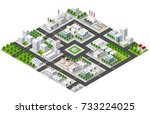 isometric plant in 3d dimensiona | Shutterstock . vector #733224025