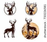 deer art vector logo design | Shutterstock .eps vector #733226581