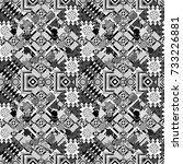 endless abstract seamless... | Shutterstock .eps vector #733226881