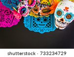 decorations for traditional... | Shutterstock . vector #733234729