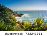 view from florianopolis coast ... | Shutterstock . vector #733241911