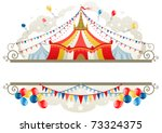 circus tent frame with space... | Shutterstock .eps vector #73324375