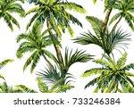 beautiful seamless vector... | Shutterstock .eps vector #733246384