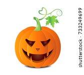 autumn halloween pumpkin vector ... | Shutterstock .eps vector #733249699