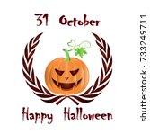 happy halloween  halloween... | Shutterstock .eps vector #733249711