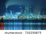 muroran night view | Shutterstock . vector #733250875