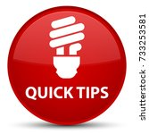quick tips  bulb icon  isolated ... | Shutterstock . vector #733253581