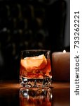 old fashioned cocktail with... | Shutterstock . vector #733262221