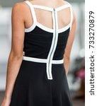 back of fashion model | Shutterstock . vector #733270879