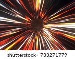 wormhole right in time and... | Shutterstock . vector #733271779