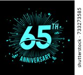 65 th anniversary logo with... | Shutterstock .eps vector #733273585