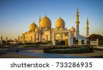 the imposing sheikh zayed grand ...   Shutterstock . vector #733286935