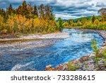 petit saguenay river in quebec  ... | Shutterstock . vector #733288615