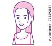 beautiful woman avatar character | Shutterstock .eps vector #733292854