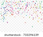 colorful confetti and ribbon... | Shutterstock .eps vector #733296139