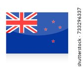new zealand flag vector icon  ... | Shutterstock .eps vector #733296337